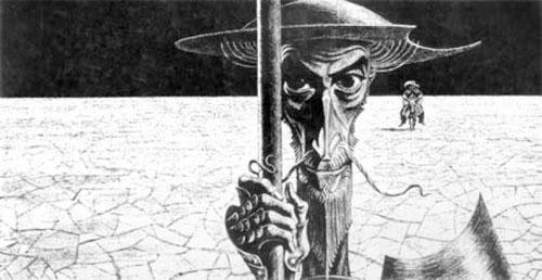 Дон Кихот. Рисунок Саввы Бродского